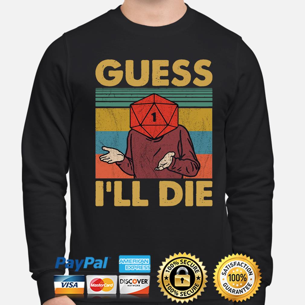 Game Guess I'll die vintage s sweater