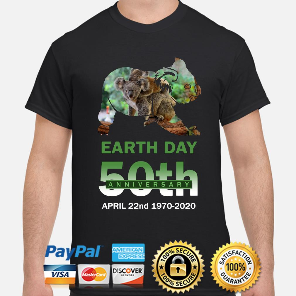 Koalas Earth day 50th anniversary April 22 2020 shirt
