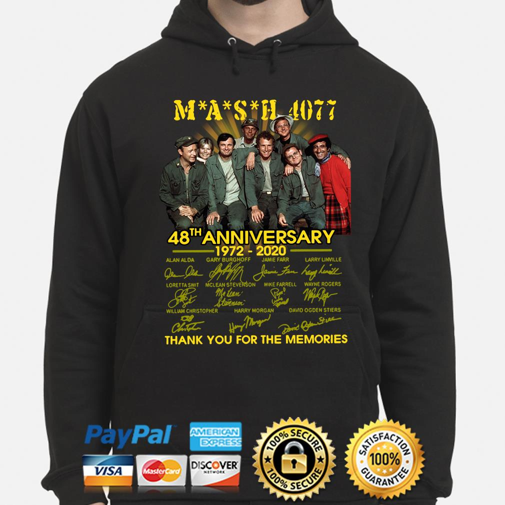 Mash 4077 48th anniversary thank you for the memories signature s hoodie