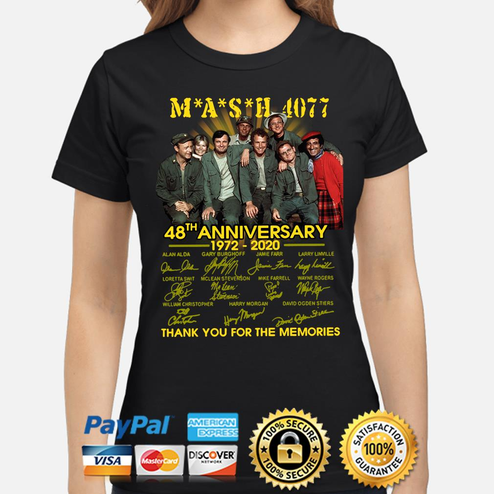 Mash 4077 48th anniversary thank you for the memories signature s ladies-shirt