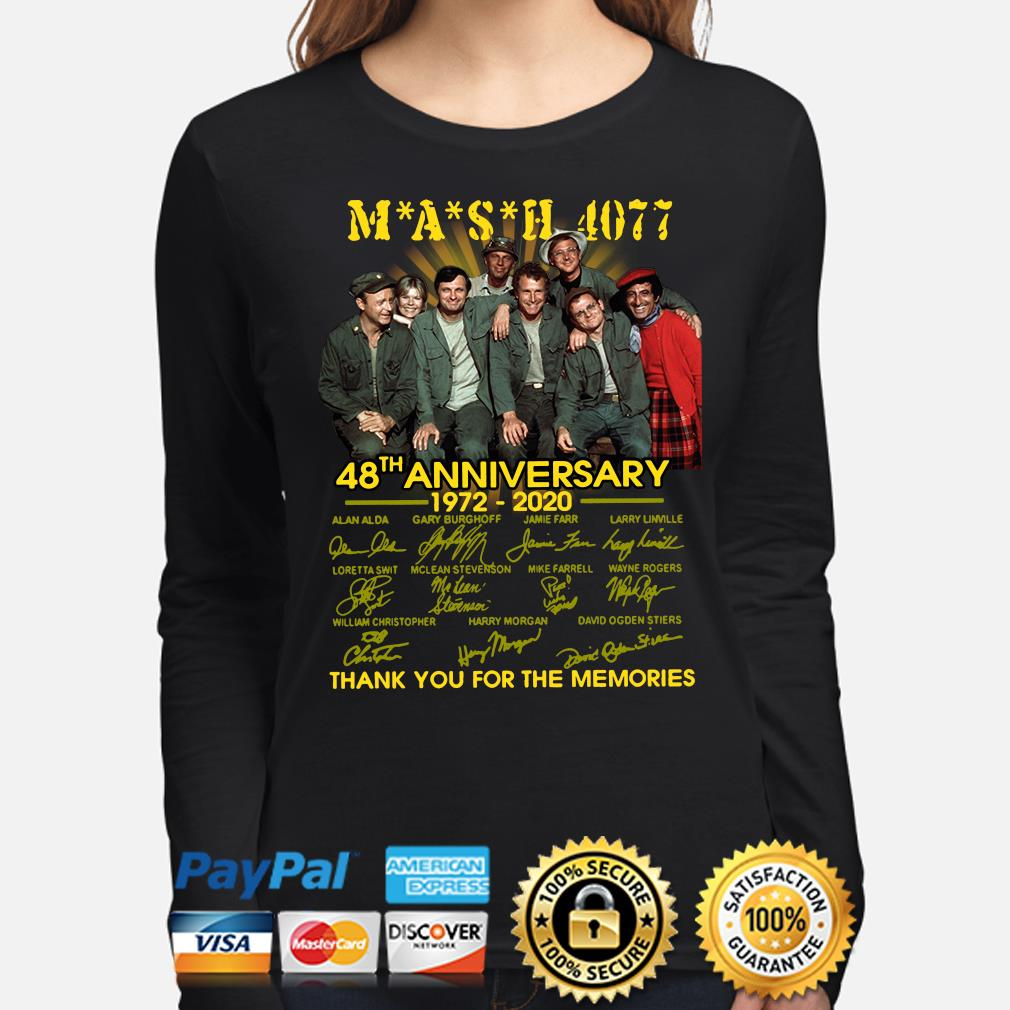 Mash 4077 48th anniversary thank you for the memories signature s long-sleeve
