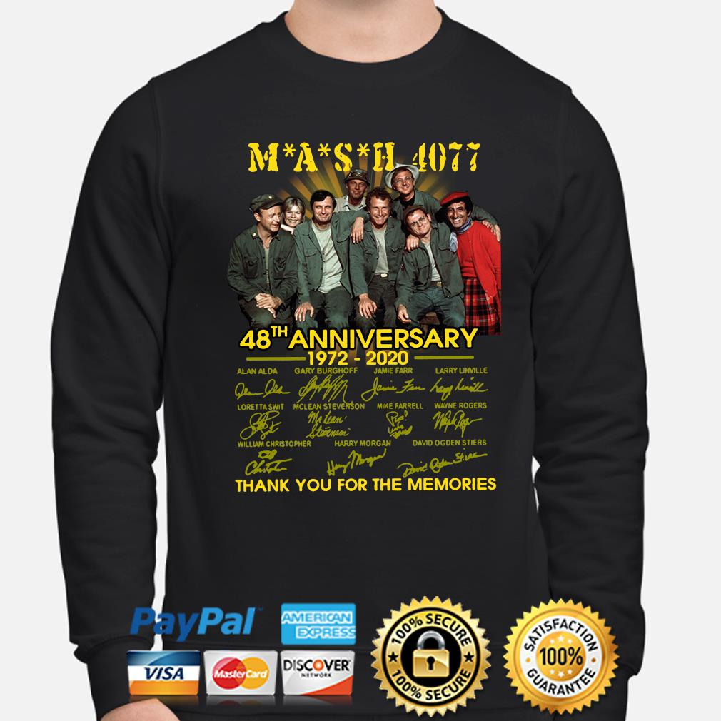 Mash 4077 48th anniversary thank you for the memories signature s sweater