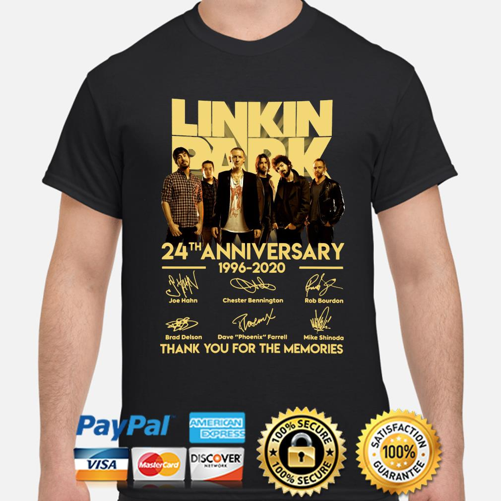 Linkin Park Limited Halloween Shirt 2020 Linkin Park 24th anniversary thank you for the memories signature