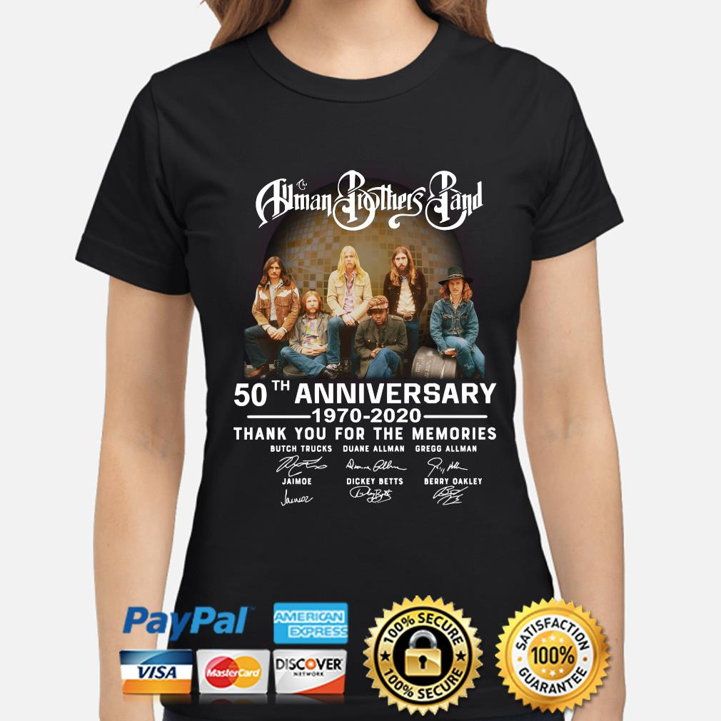 The Allman Brothers Band 50th Anniversary 1970-2020 All Signed T-Shirt