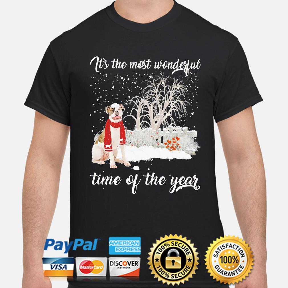 American Bulldog it's the most wonderful time of the year christmas sweater