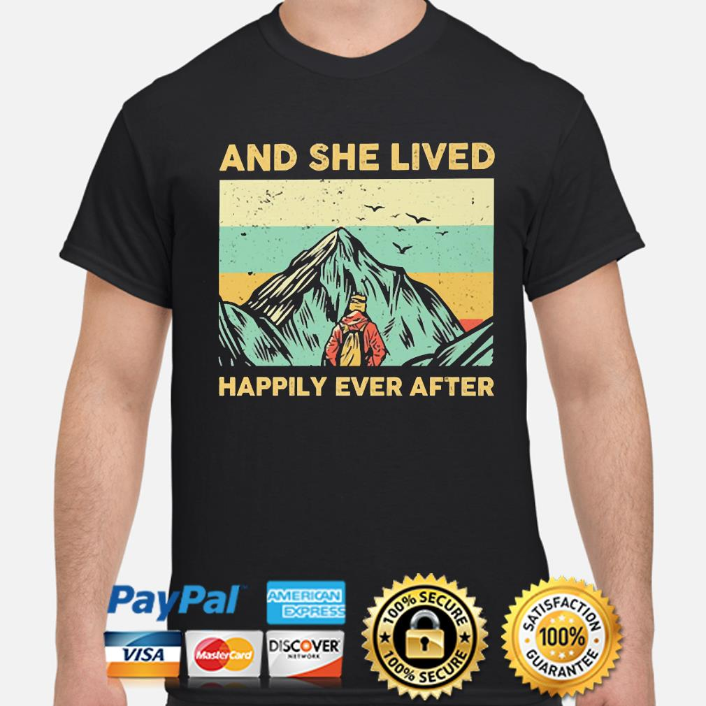 And she lived Happily ever after vintage shirt