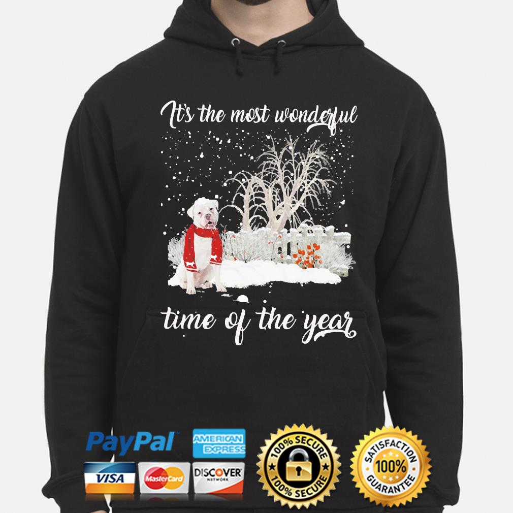 English Bulldog it's the most wonderful time if the year christmas sweater hoodie