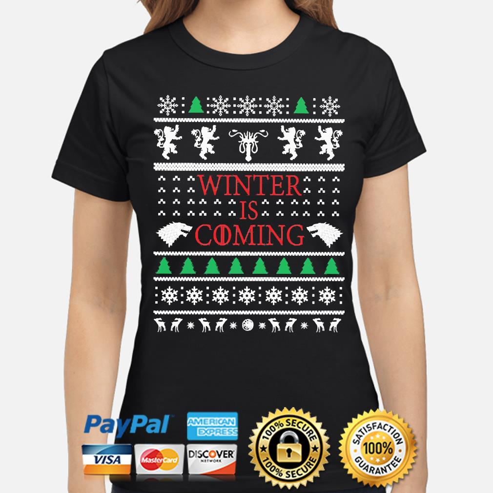 Game of Thrones Winter is Coming Ugly Christmas sweater