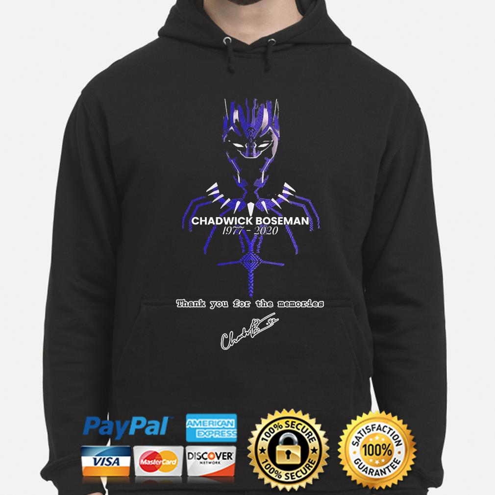 Chadwick Boseman of marvel thank you for the memories signature s hoodie