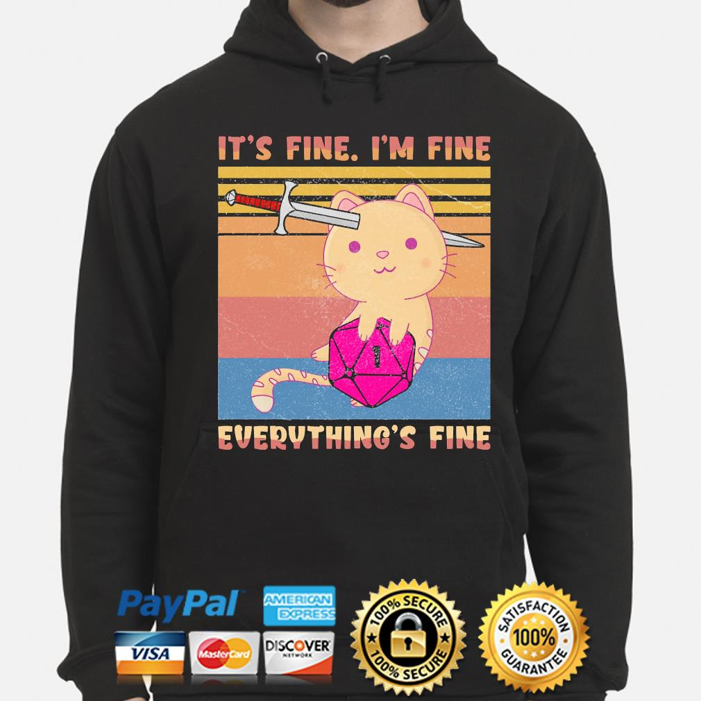 Dungeon meowster it's fine I'm fine everything fine vintage s hoodie