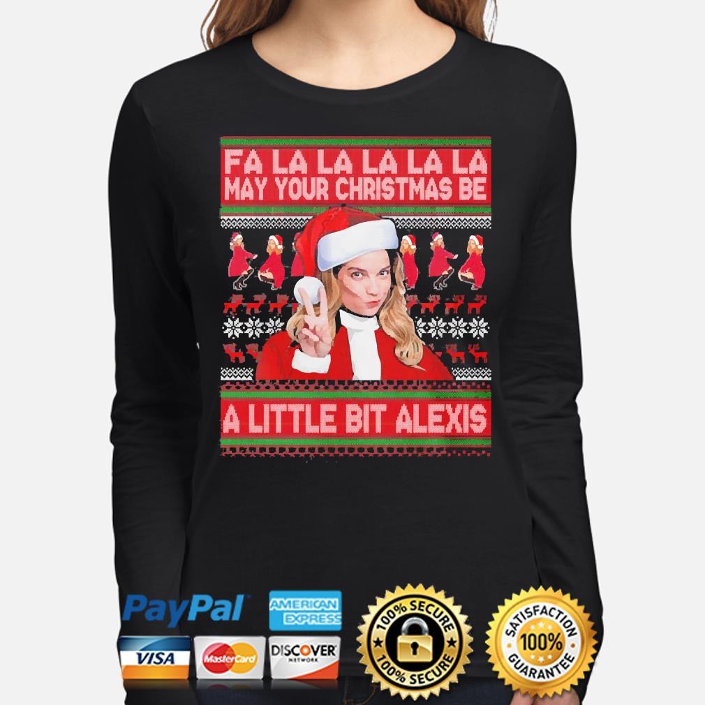 Fa la la may your christmas be a little bit alexis sweater long-sleeve