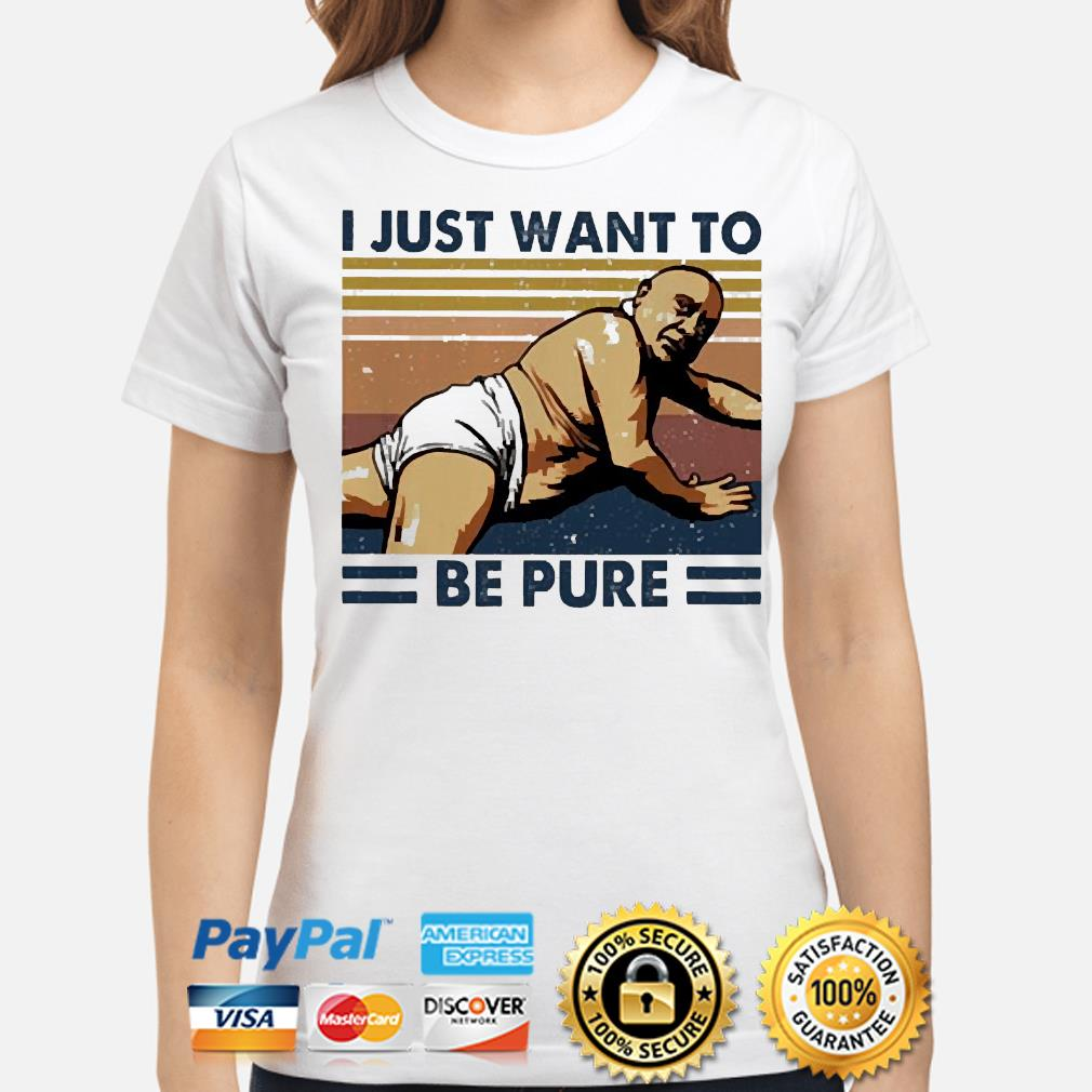 Frank Reynolds I just want to be pure vintage s ladies-shirt