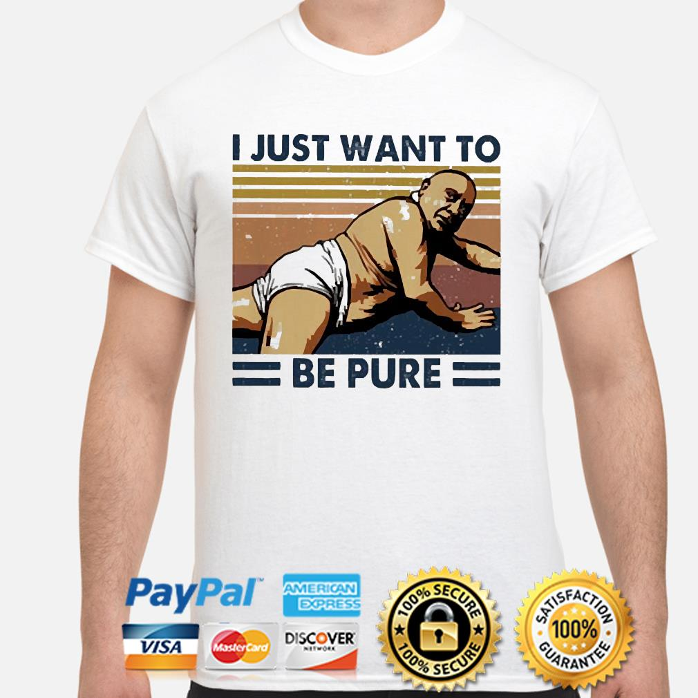 Frank Reynolds I just want to be pure vintage shirt