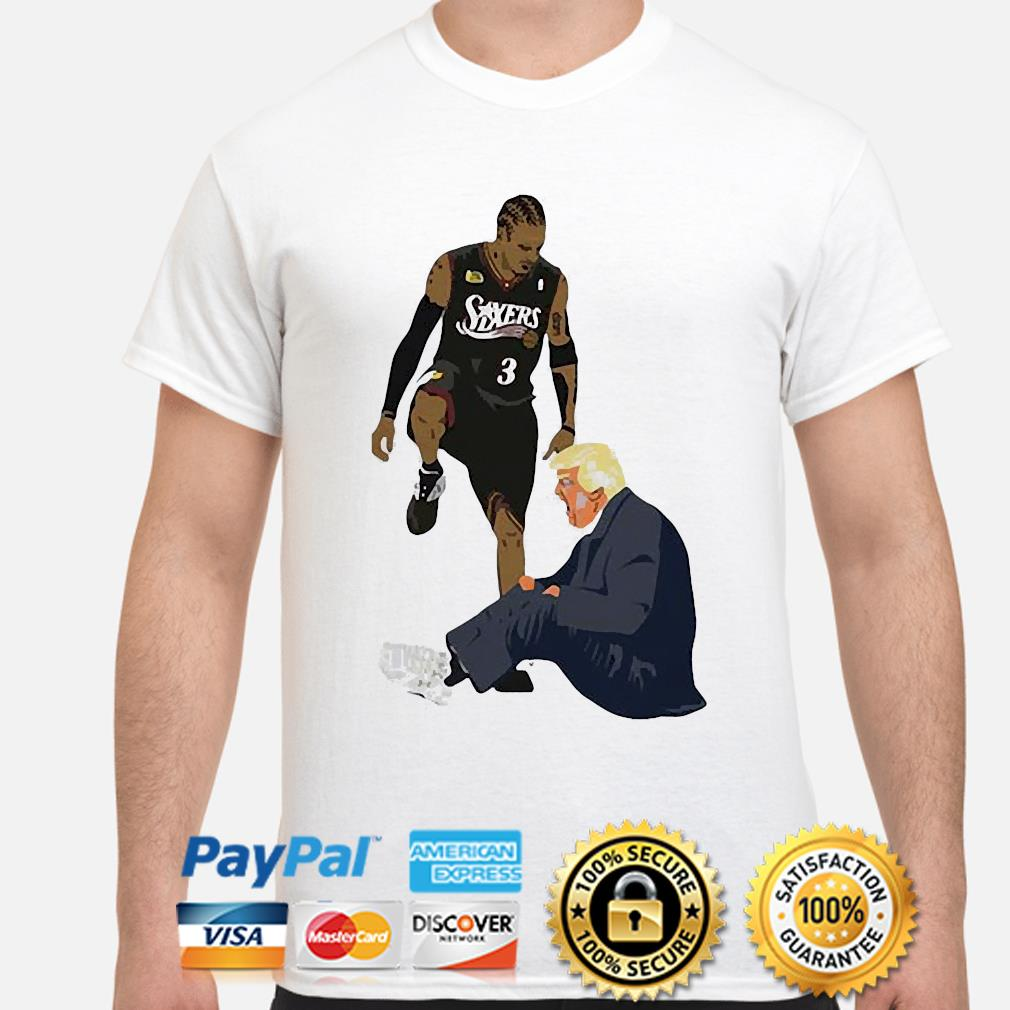 Official Allen Iverson Steps Over Donald Trump Funny shirt