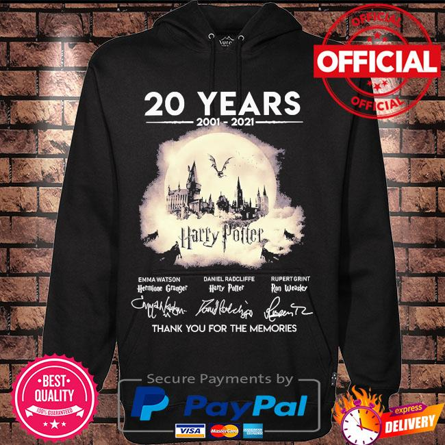 20 years of Harry Potter thank you for the memories signatures s Hoodie black