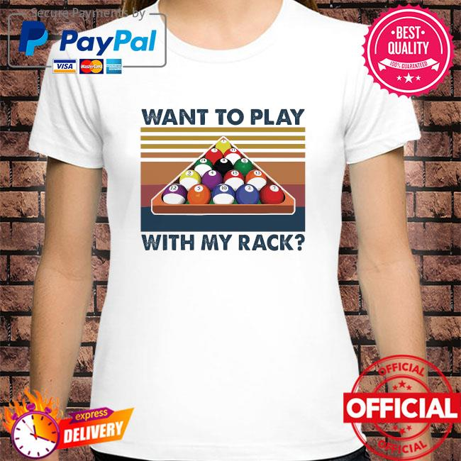 Billiards want to play with my rack vintage shirt
