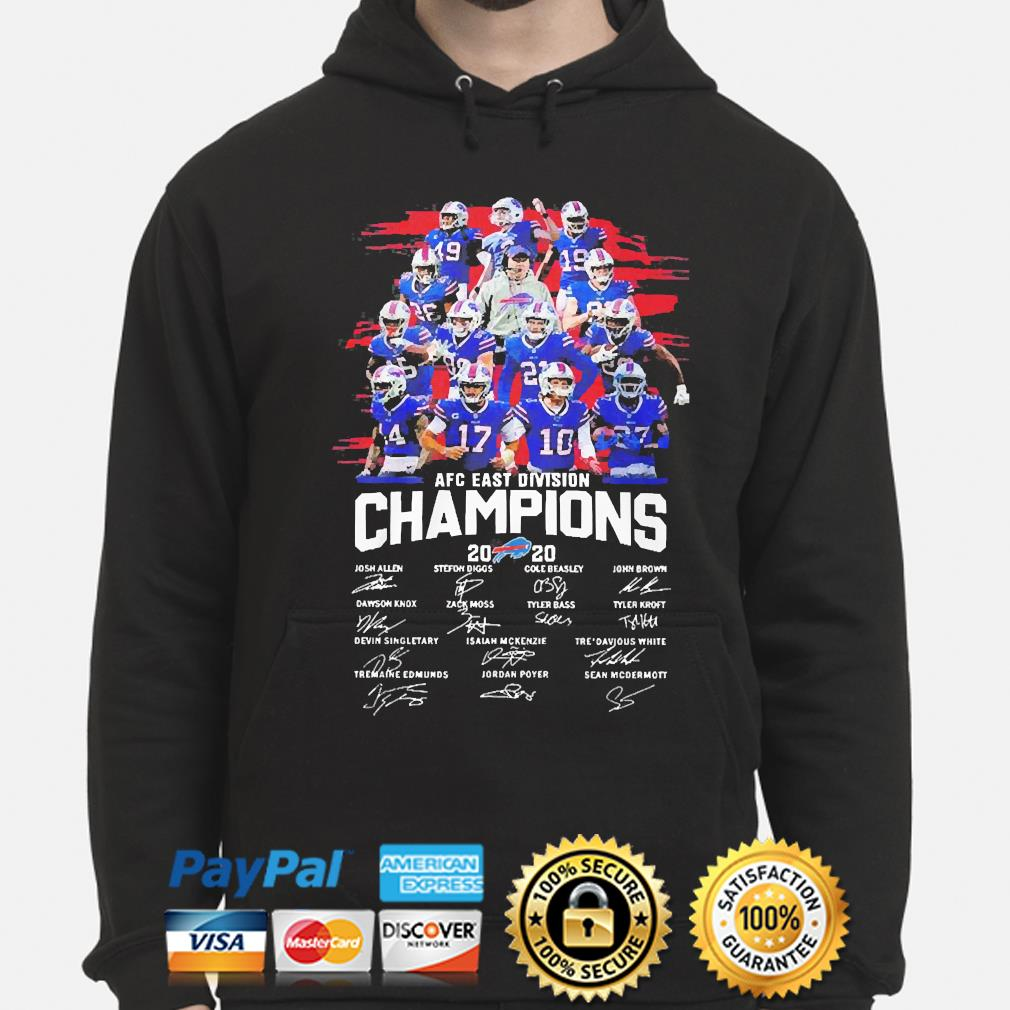 Buffalo Bills 2020 afc east division champion signatures s hoodie