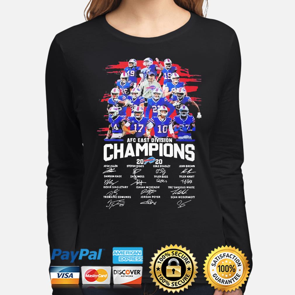 Buffalo Bills 2020 afc east division champion signatures s long-sleeve