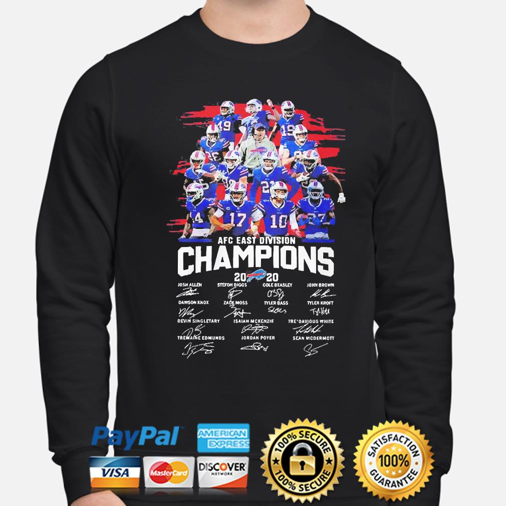 Buffalo Bills 2020 afc east division champion signatures s sweater