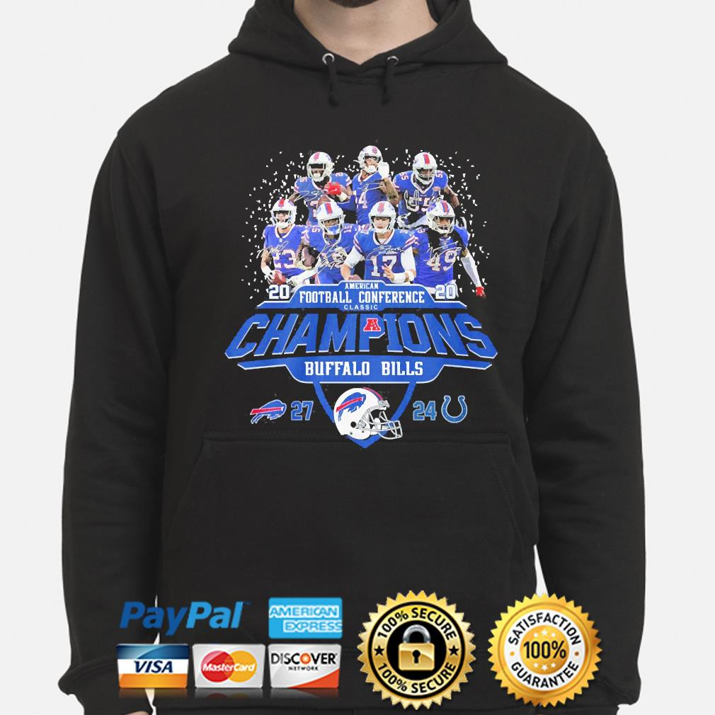 Buffalo Bills American football Conference classic champions signature s hoodie
