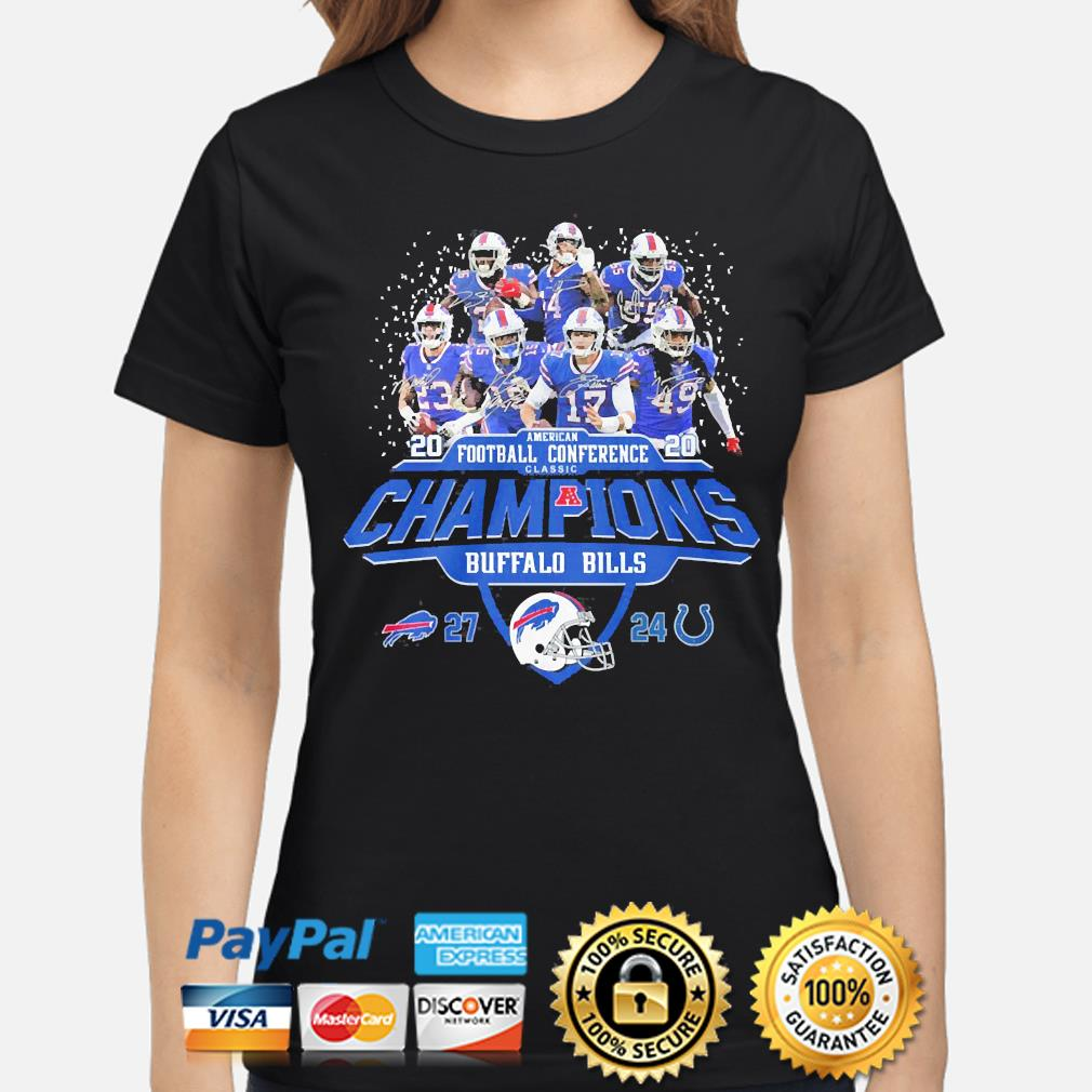 Buffalo Bills American football Conference classic champions signature s ladies-shirt
