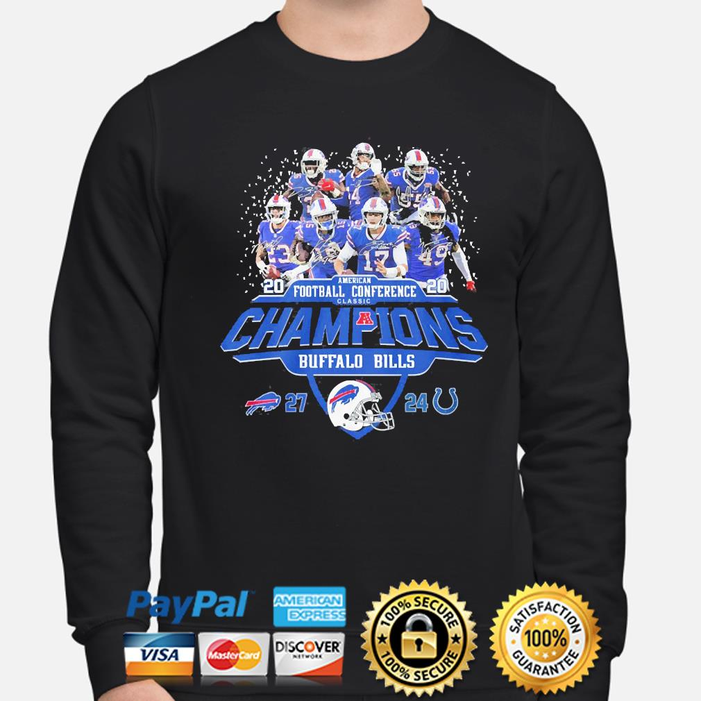 Buffalo Bills American football Conference classic champions signature s sweater
