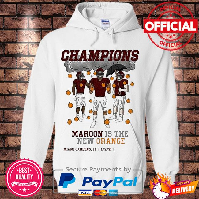 Maroon is the new orange champions s Hoodie white