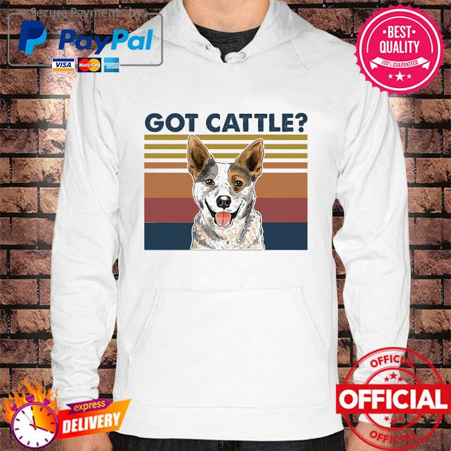 Official Cattle Dog got cattle vintage s Hoodie white