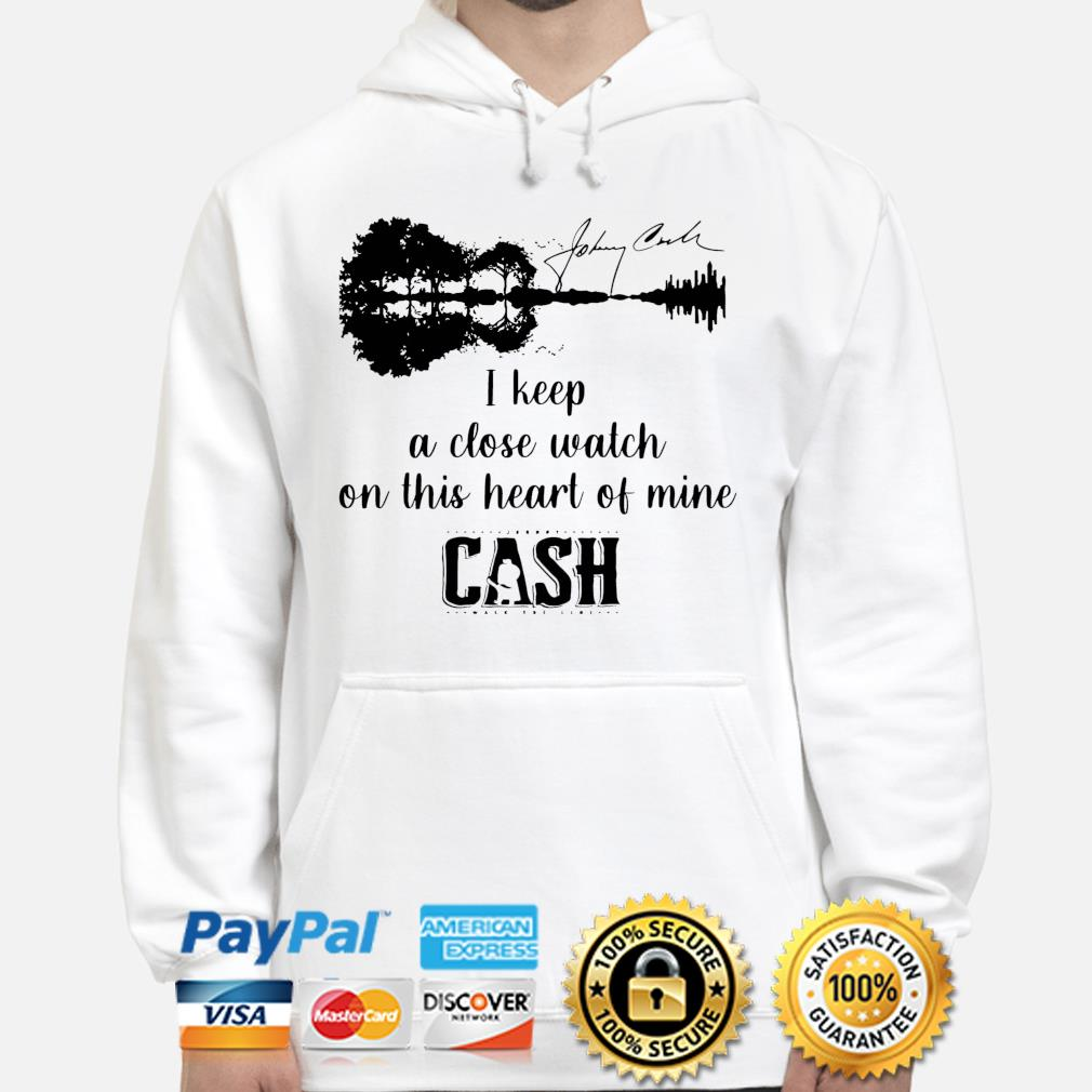 Official Johnny cash I keep a close watch on this heart of mine cash signature s hoodie