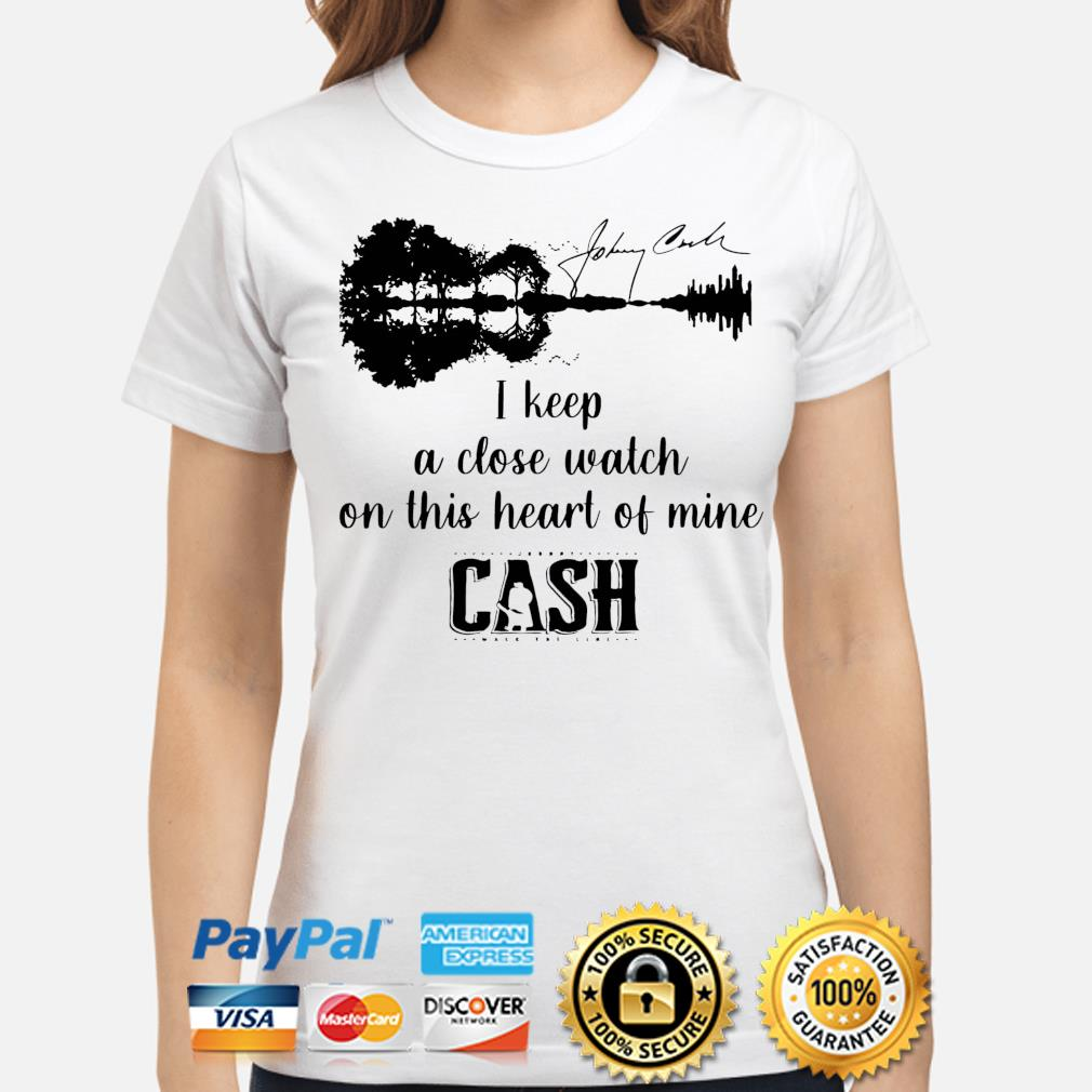 Official Johnny cash I keep a close watch on this heart of mine cash signature s ladies-shirt