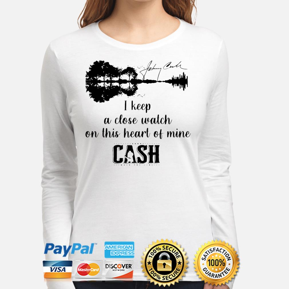 Official Johnny cash I keep a close watch on this heart of mine cash signature s long-sleeve