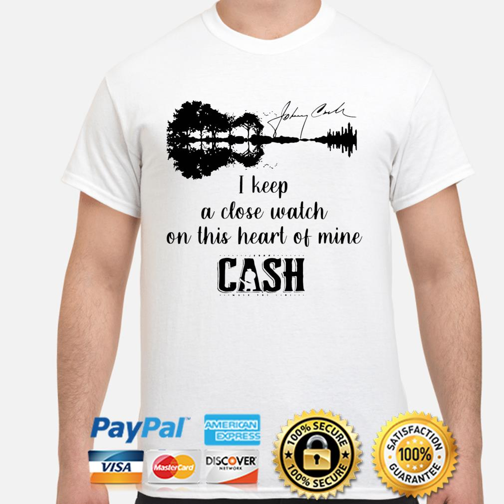 Official Johnny cash I keep a close watch on this heart of mine cash signature shirt