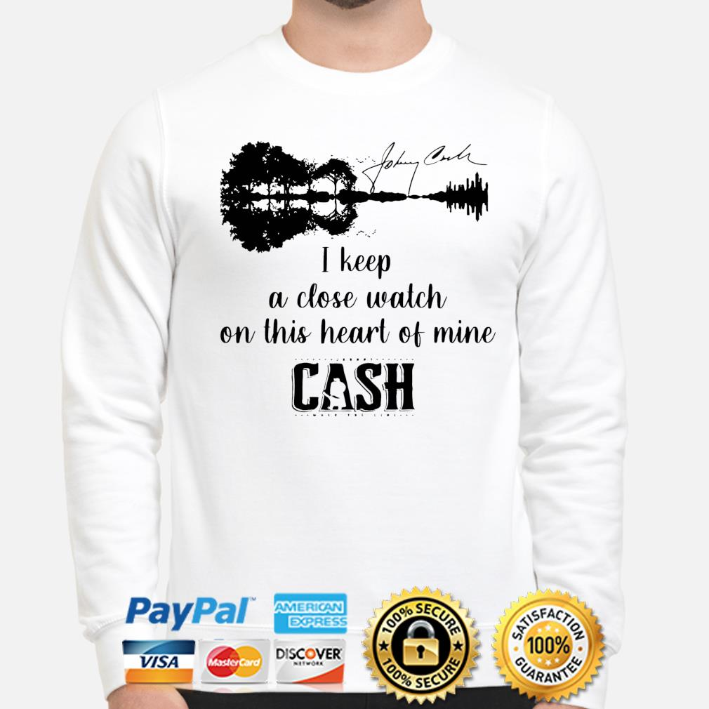 Official Johnny cash I keep a close watch on this heart of mine cash signature s sweater