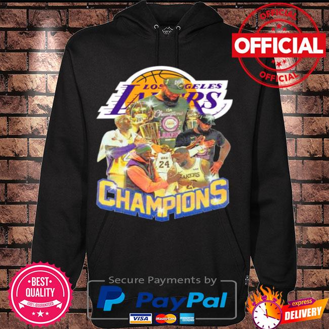 Official Kobe bryant and lebron james champions 2021 s Hoodie black