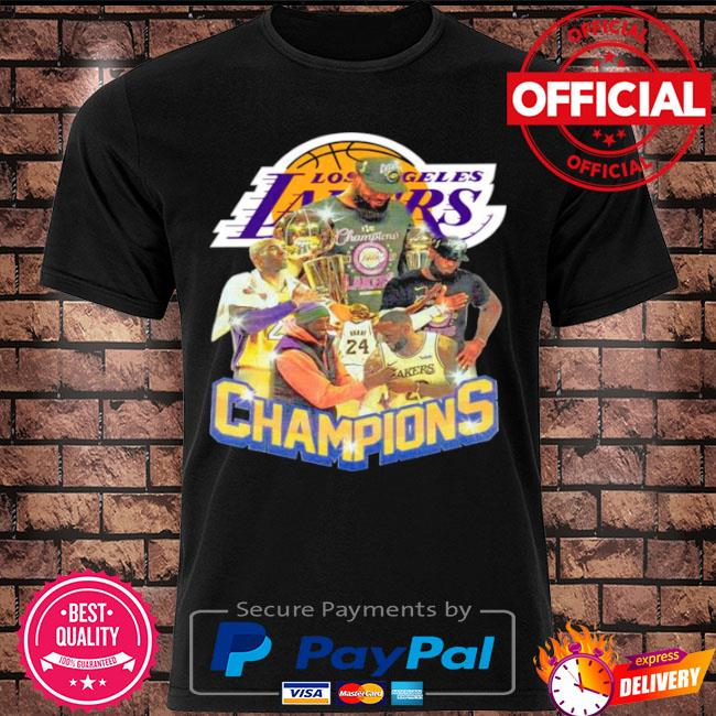 Official Kobe bryant and lebron james champions 2021 shirt