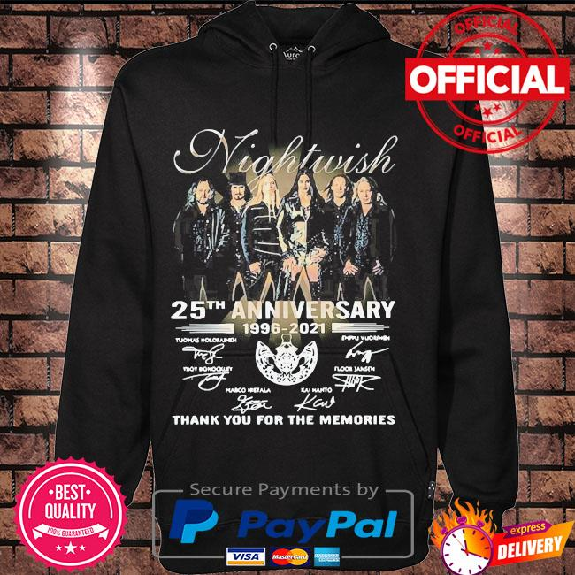 Official Nightwish 25th anniversary thank you for the memories signatures s Hoodie black