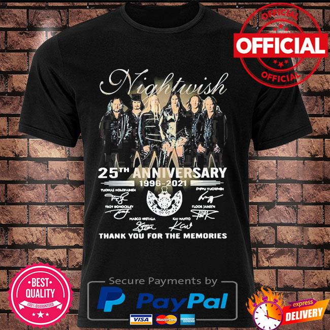 Official Nightwish 25th anniversary thank you for the memories signatures shirt