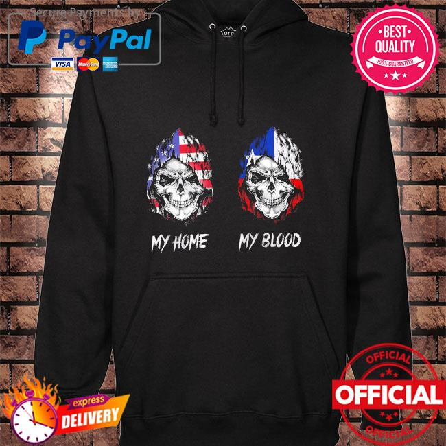 Official Skull America my home and my blood s hoodie black