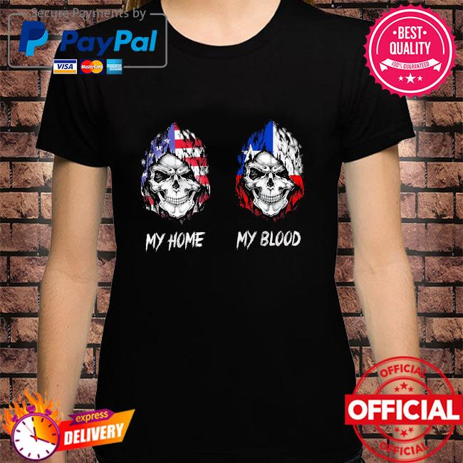 Official Skull America my home and my blood shirt