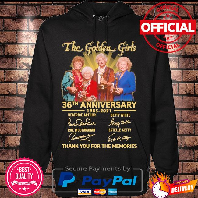 Official The Golden Girl 36th anniversary thank you for the memories signatures s Hoodie black