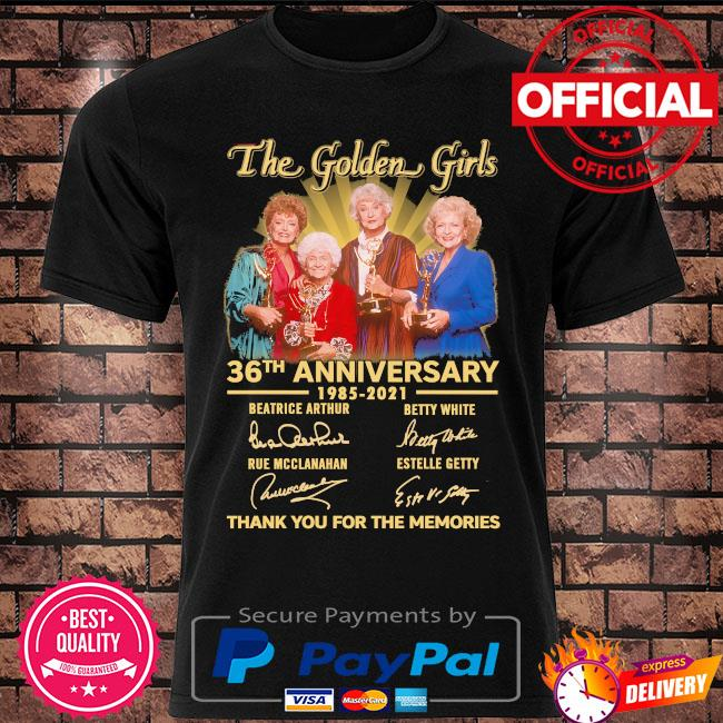 Official The Golden Girl 36th anniversary thank you for the memories signatures shirt