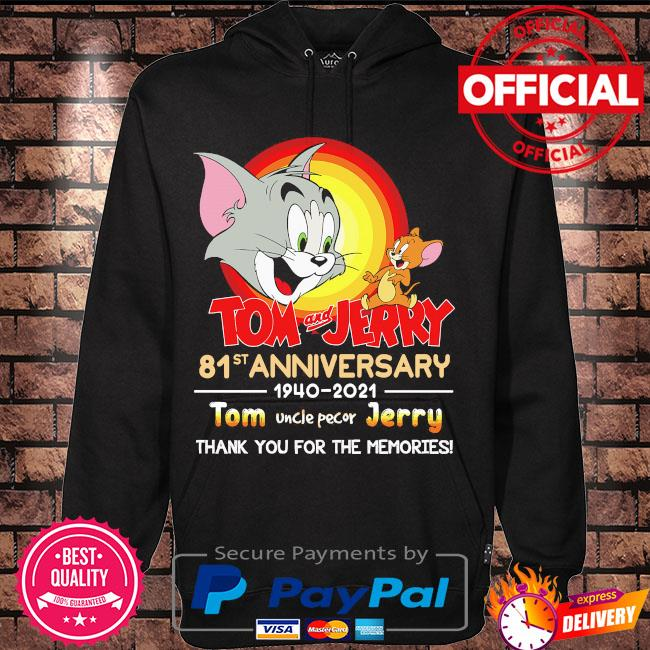 Official Tom and Jerry 81st anniversary thank you for the memories signatures s Hoodie black