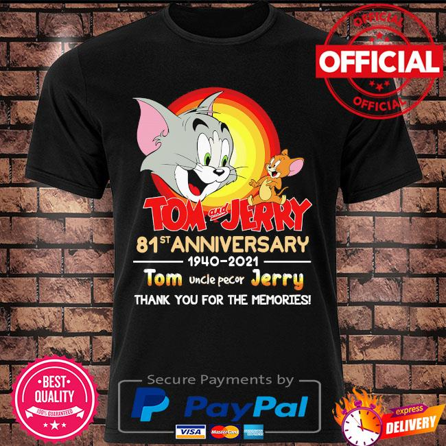 Official Tom and Jerry 81st anniversary thank you for the memories signatures shirt