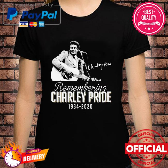 Remembering Charley Pride 1934 2020 signature shirt