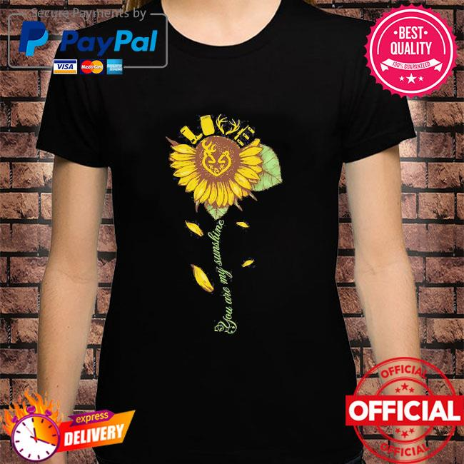 Sunflower love you are my sunshine shirt